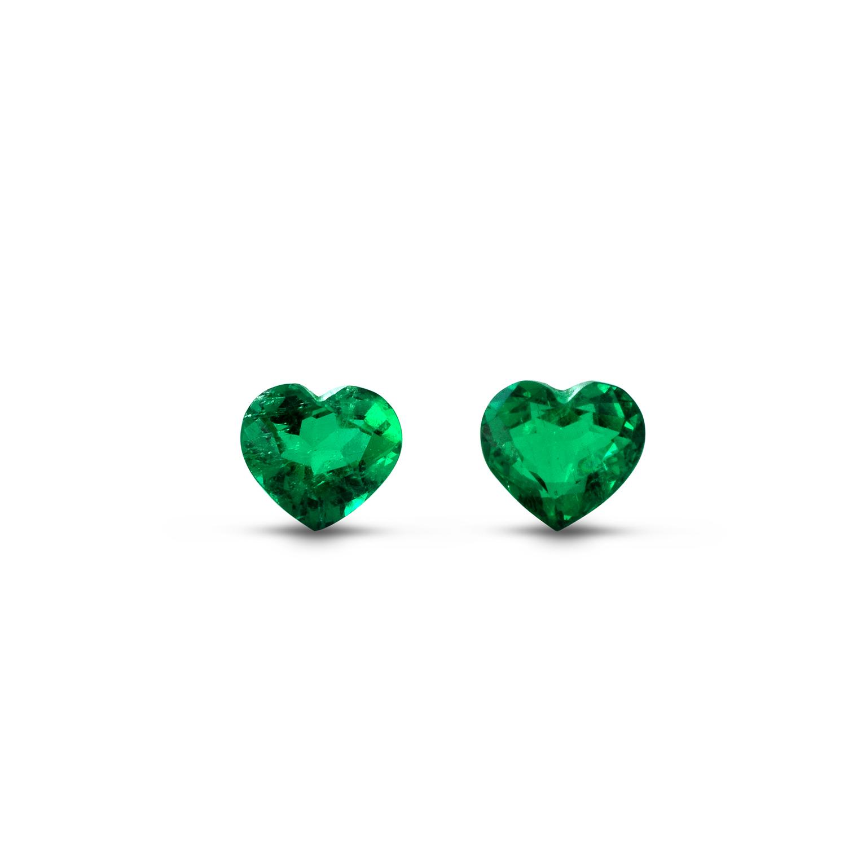 ClaudiaHamann_Emerald_Colombia_HeartShape_PreciousPair_6,35cts_EML18D6