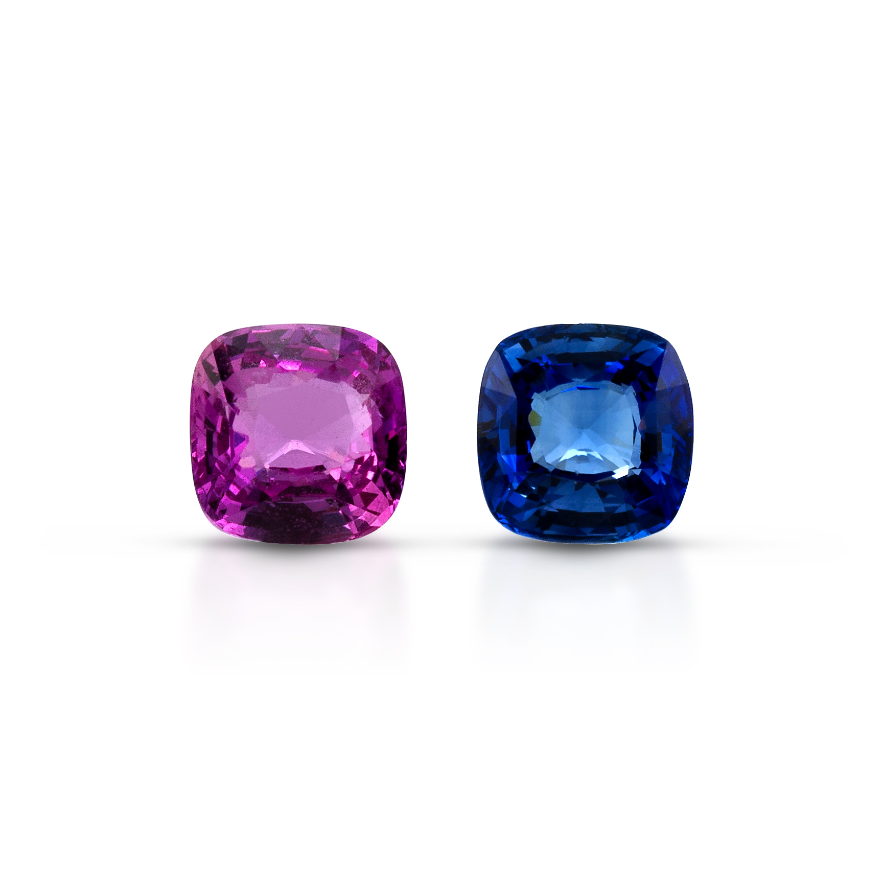 ClaudiaHamann_Sapphire blue and pink pair for_earring_9,90cts_Ceylon_cert.