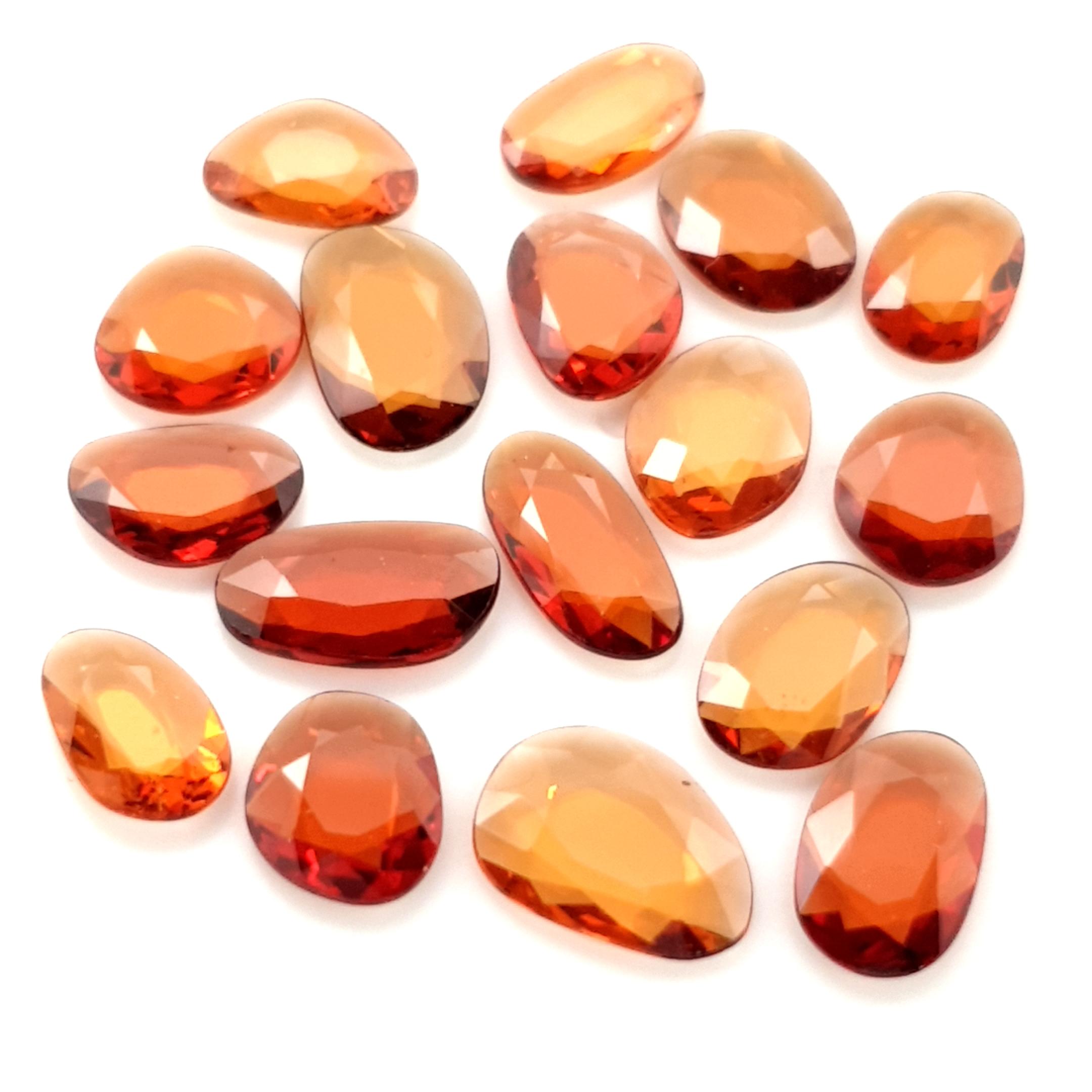 0,75-1,50ct.size Spessartite Garnet DoubleRoseCut GSK17C8 ClaudiaHamann__2021-02-28-21-29-07