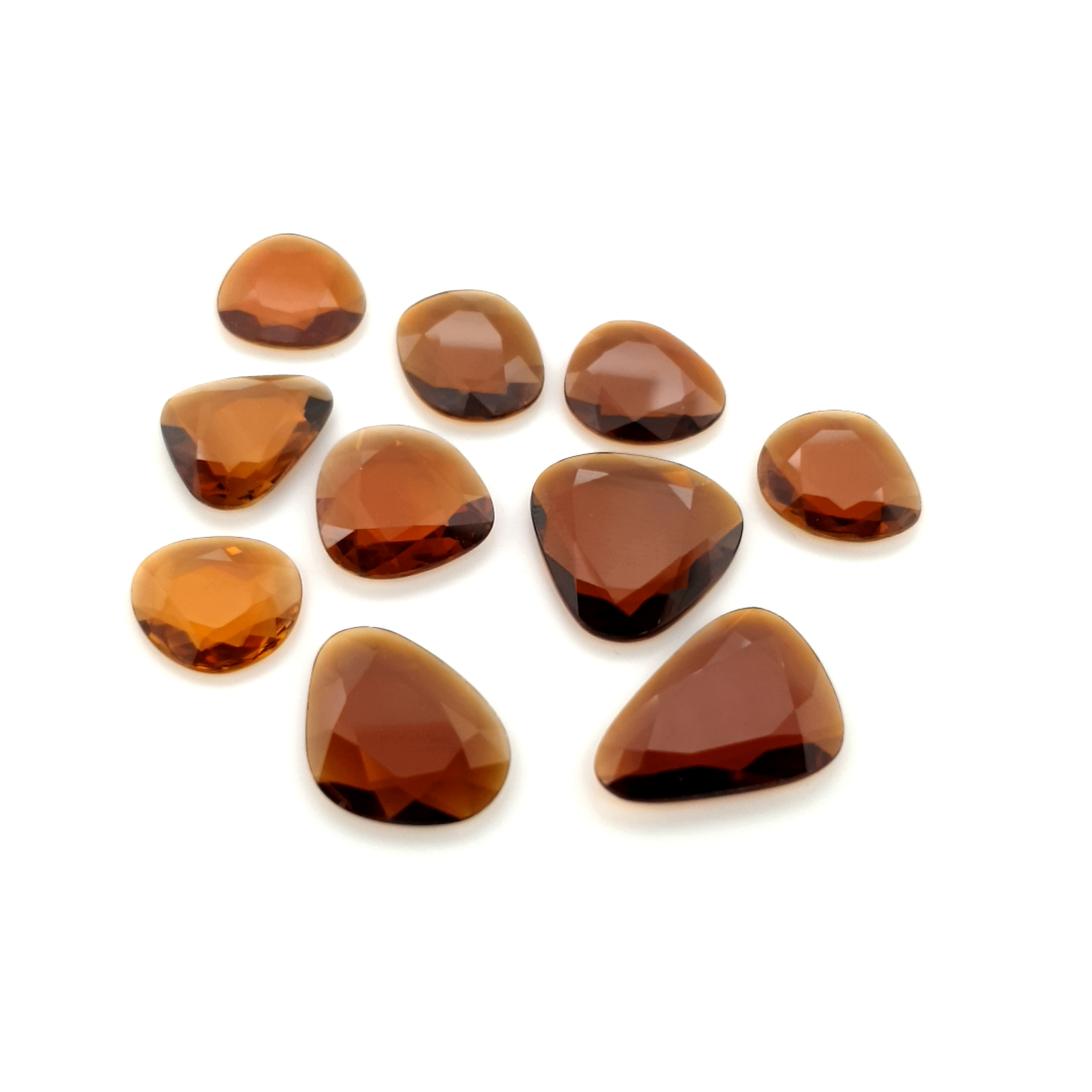 2,00-5,00ct.size Brown Tourmalin DoubleRoseCut TMF11C18 ClaudiaHamannEdelstein__2021-02-12-00-16-38