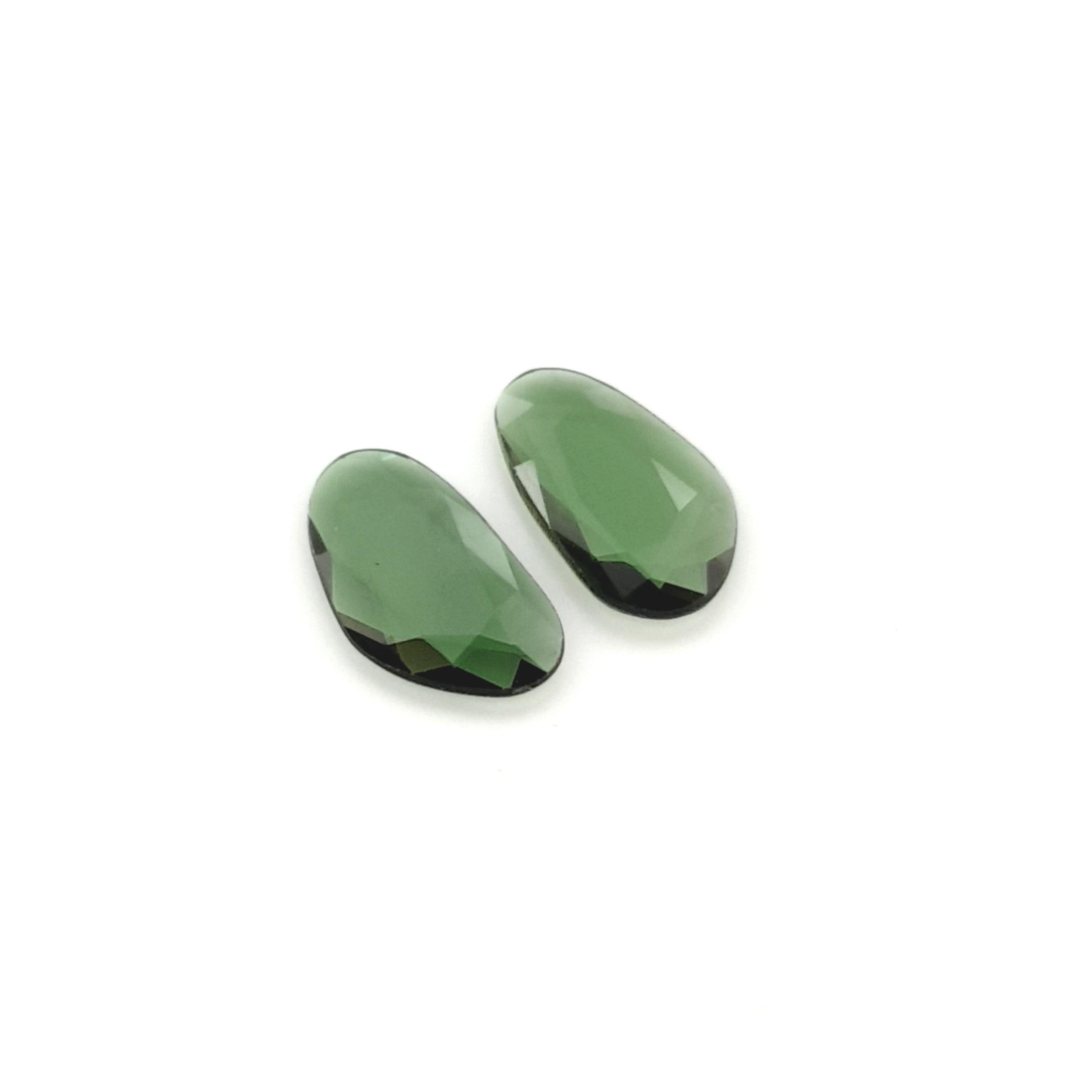2,15ct.Pair Imperial Green Tourmalin DoubleRoseCut TMK18C3 ClaudiaHamann__2021-02-11-23-00-01