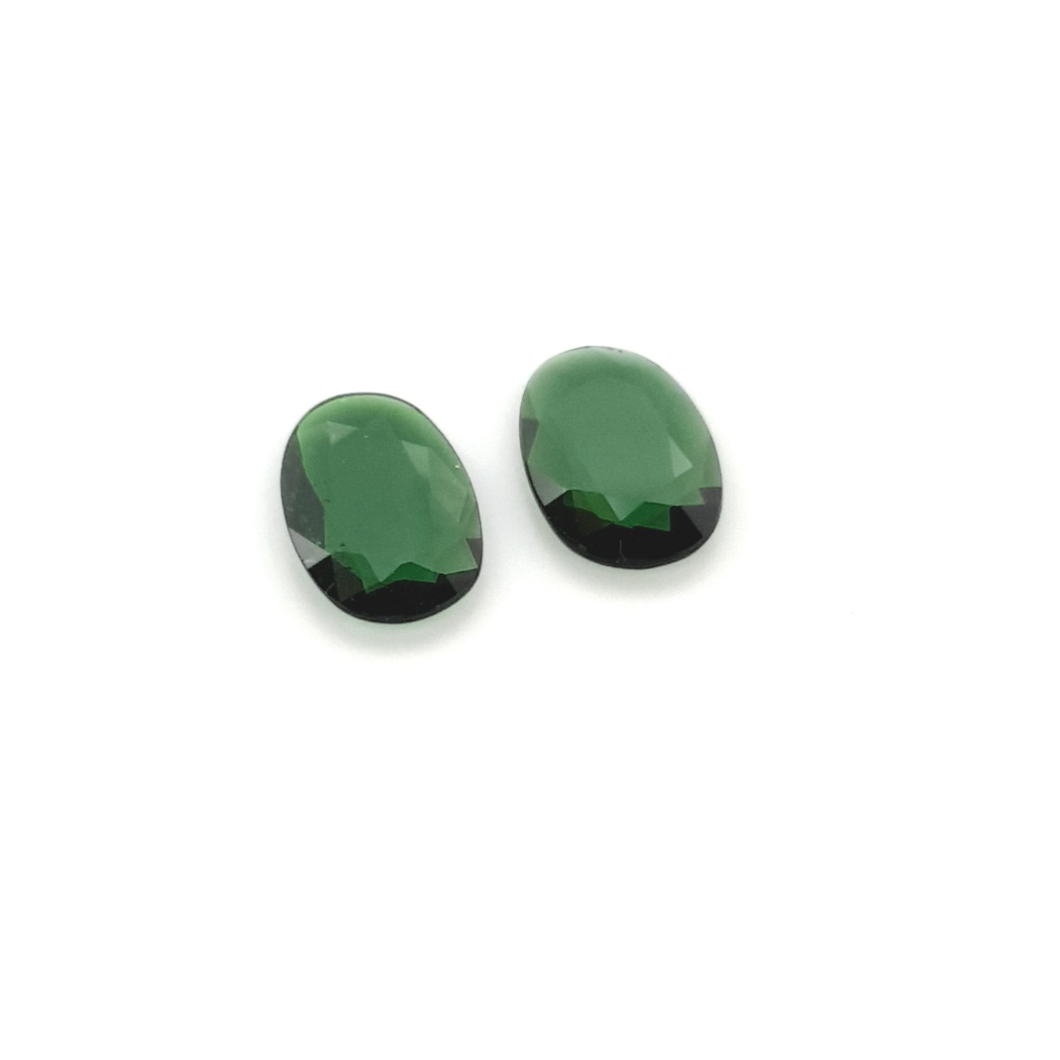 2,31ct.Pair Imperial Green Tourmalin DoubleRoseCut TMK8C3 ClaudiaHamann__2021-02-11-22-55-33