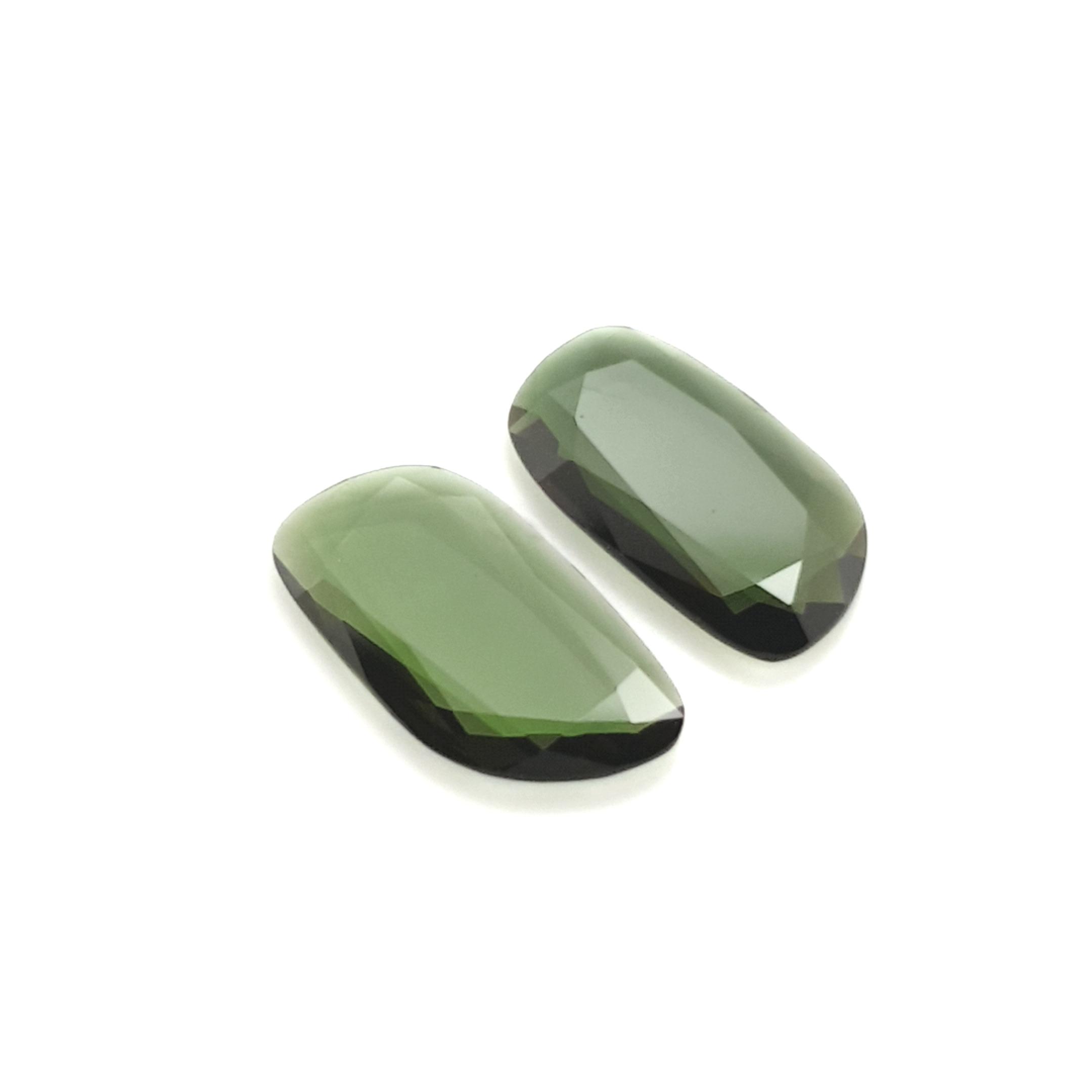 4,92ct.Pair Imperial Green Tourmalin DoubleRoseCut TMJ13C4 ClaudiaHamann__2021-02-11-20-49-17