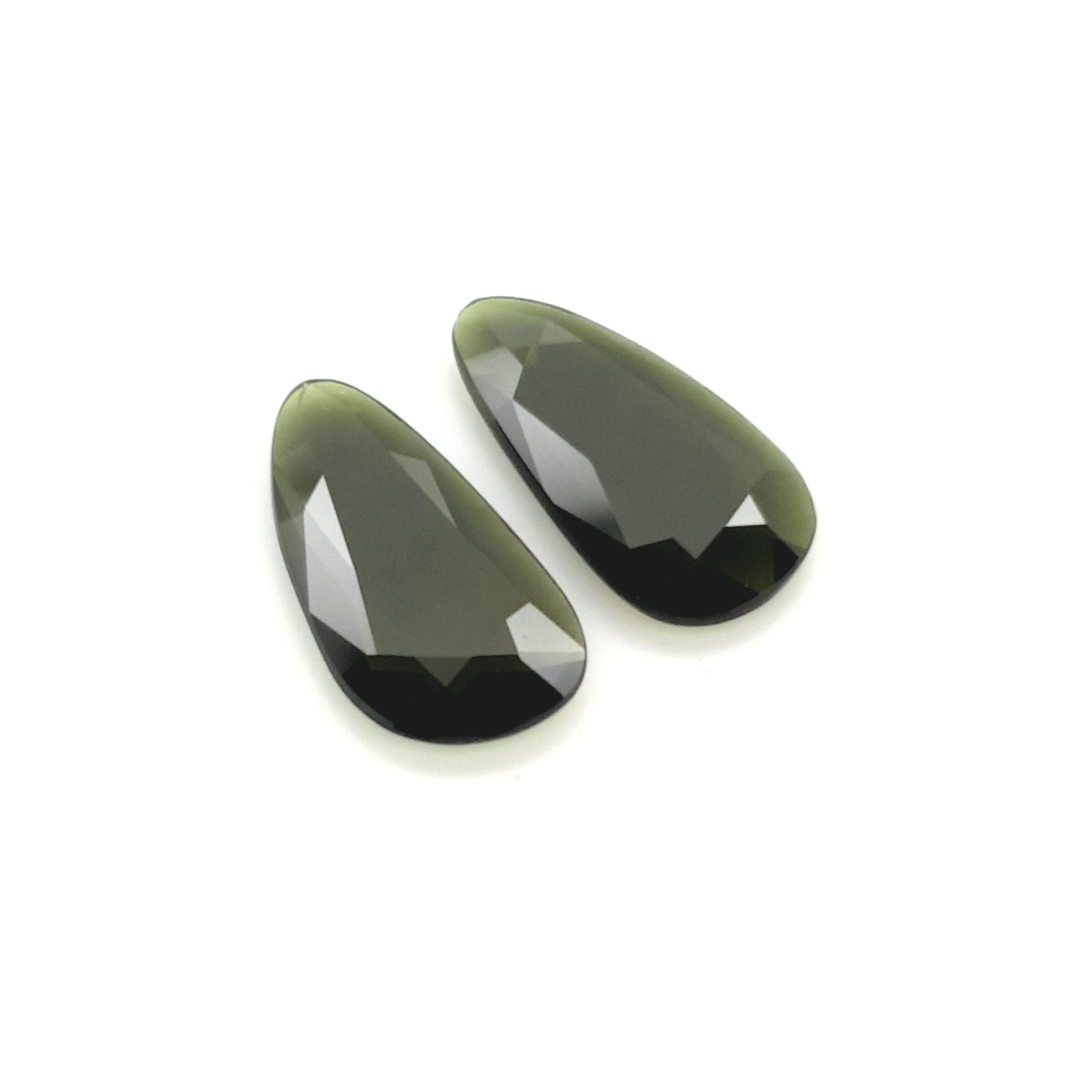 5,65ct.Pair Imperial Green Tourmalin DoubleRoseCut TMJ18C3 ClaudiaHamann__2021-02-11-22-45-15
