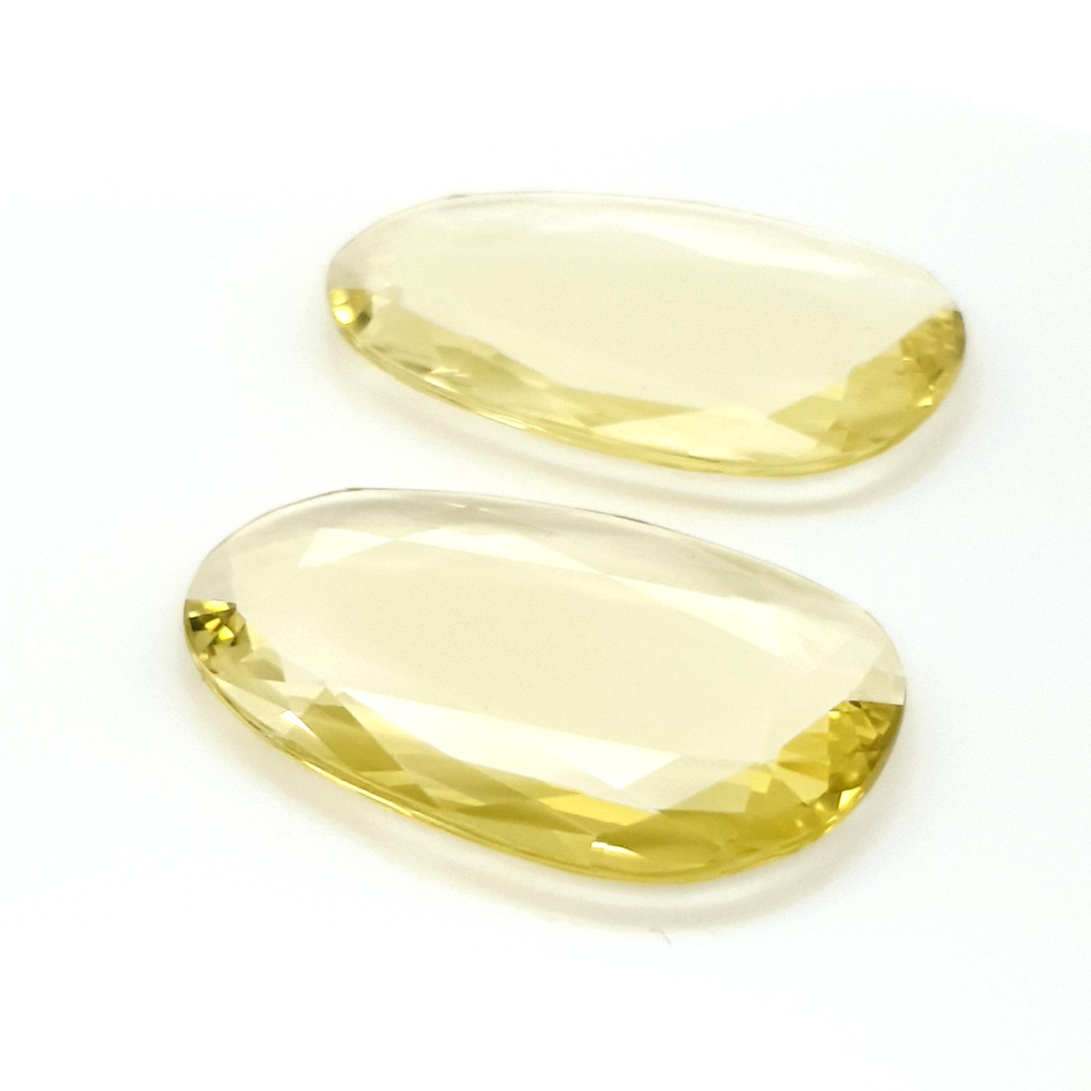 57,63ct Pair Lemon Quartz DoubleRoseCut QZK12C4 ClaudiaHamann__2021-03-18-13-08-30