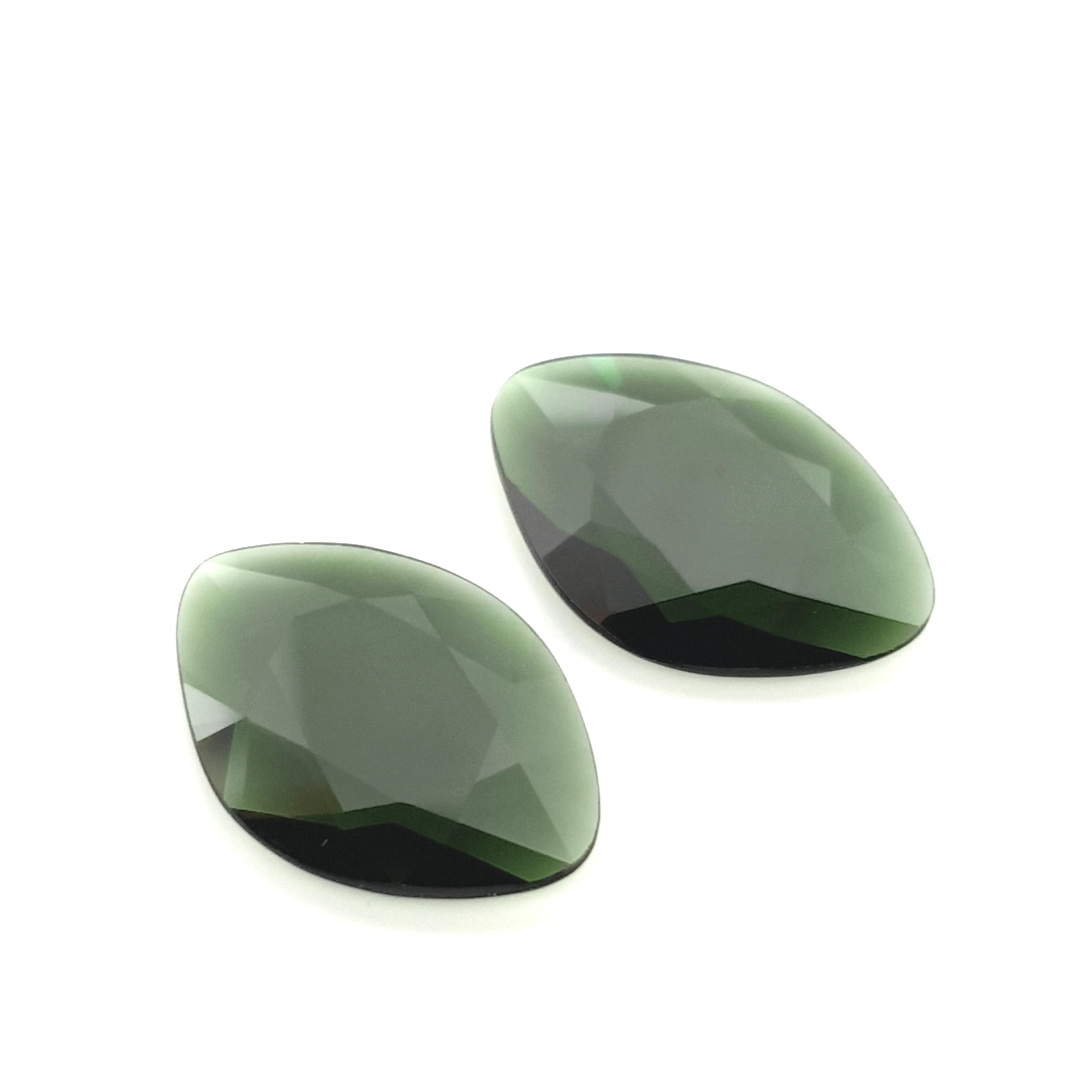 7,54ct.Pair Imperial Green Tourmalin DoubleRoseCut TMA14C31 ClaudiaHamann__2021-02-11-18-00-42