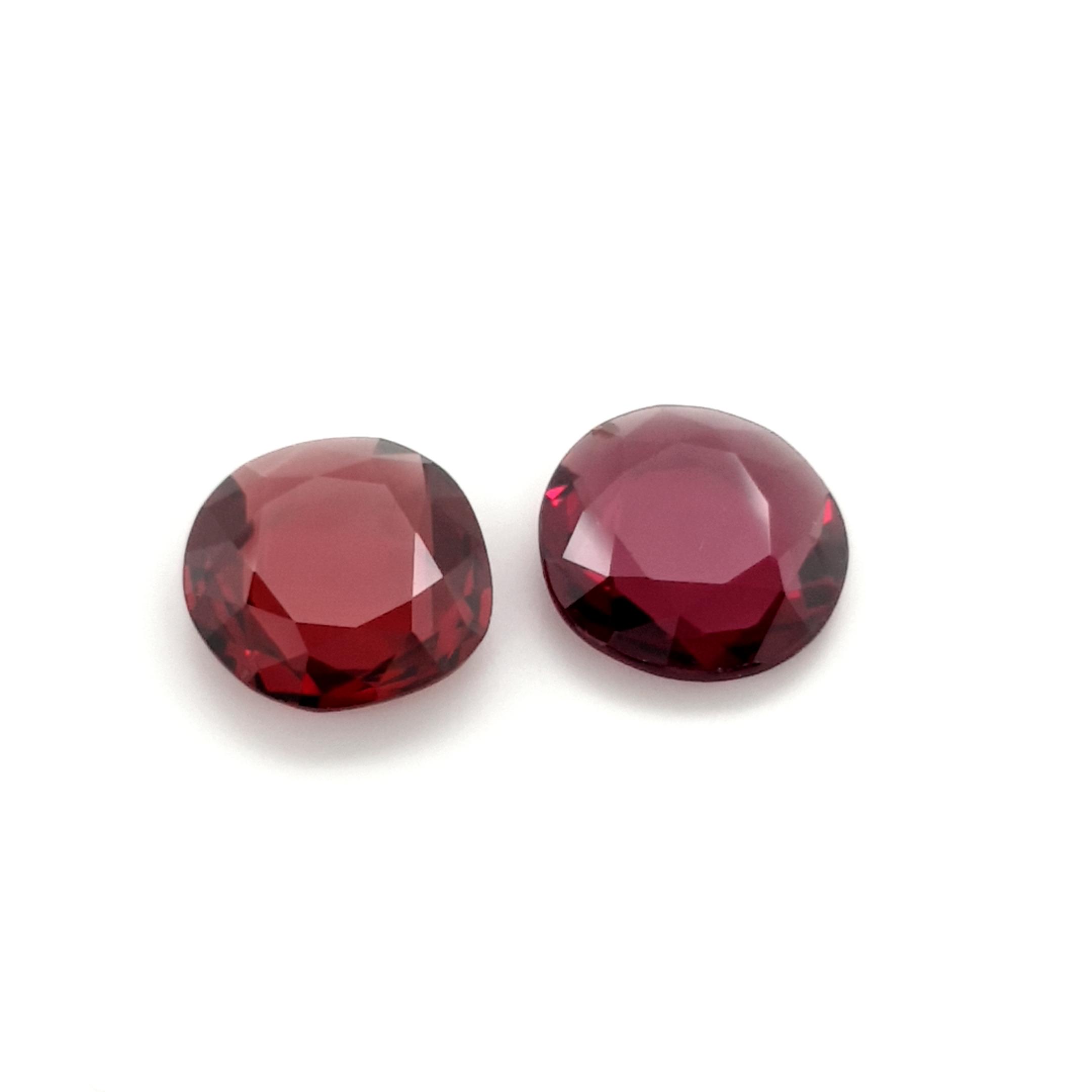8,78ct. Pair 11x12mm Rhodolite Garnet DoubleRoseCut GRD19C1 ClaudiaHamann__2021-02-28-18-26-20