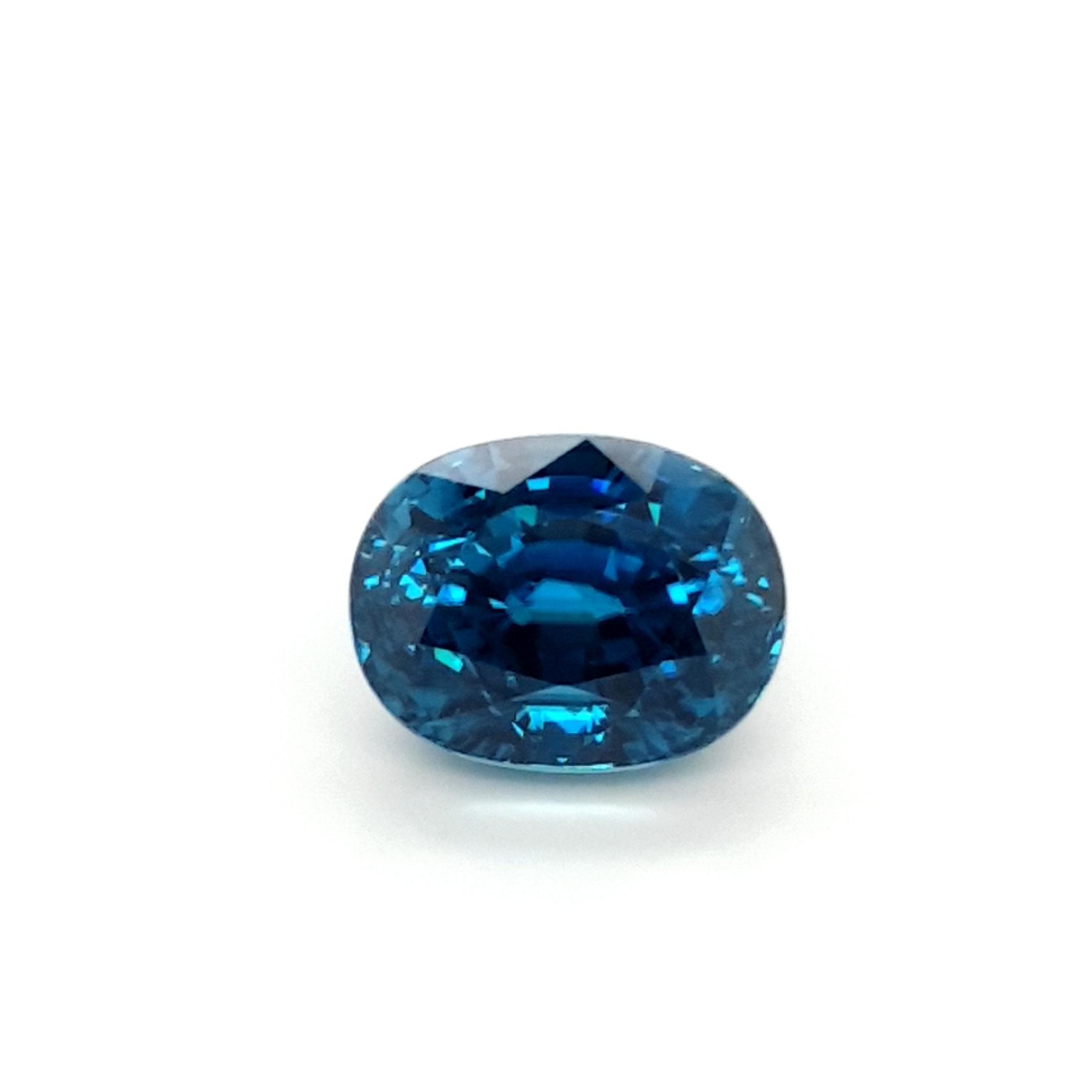 13,46ct.Starlight Blue Zircon ZCF18D2 ClaudiaHamann