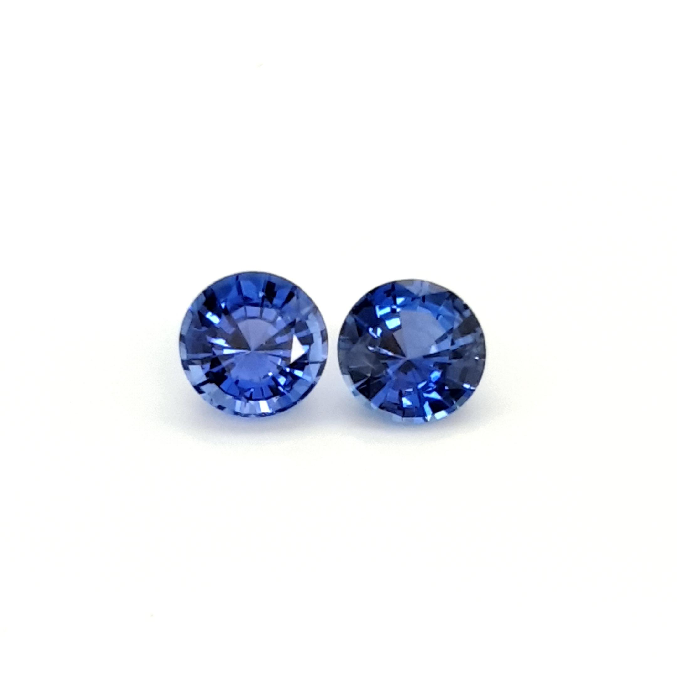 2,76ct. Pair Round 6,8mm Sapphire SAI17D9 ClaudiaHamann__2021-06-03-23-13-04