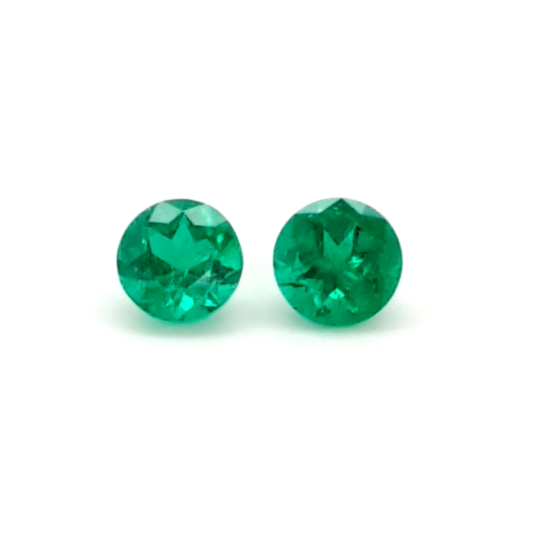 2,11ct. Pair Round Emerald from Colombia EMF19D4 ClaudiaHamann__2021-03-29-23-12-33