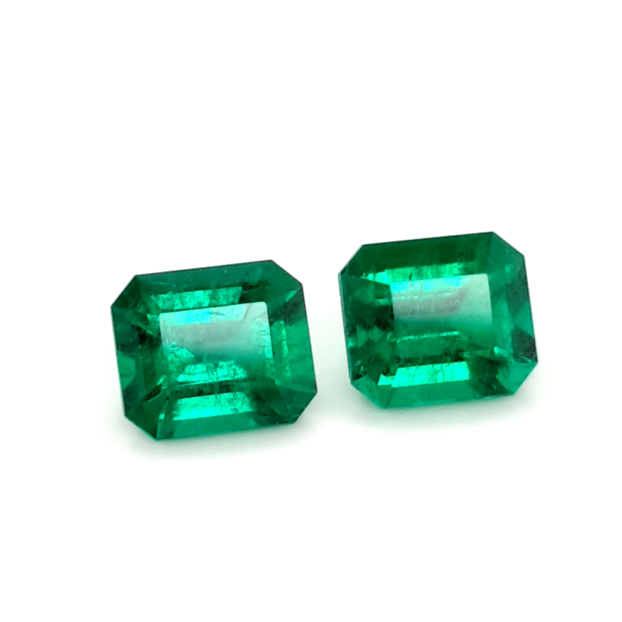 7,39ct. Pair Emerald from Colombia MuzoGreen cert. EML20D1 ClaudiaHamann__2021-03-25-17-23-21