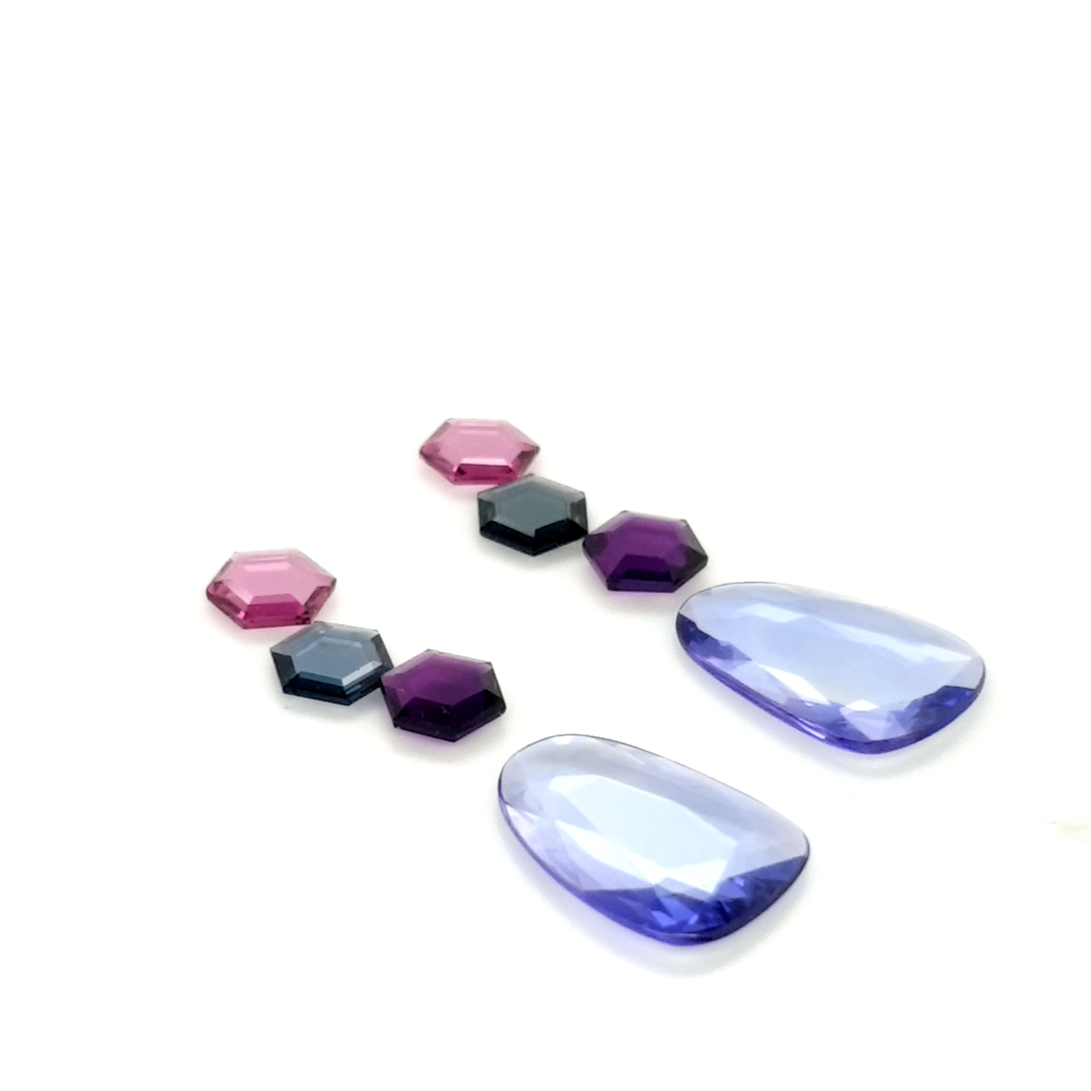 Set for earring 8,58ct Tanzanite, Spinel, Rhodolite and Amethyst ClaudiaHamann __2021-03-24-23-49-14